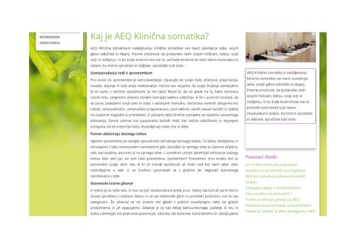 Predstavitev AEQ metode® na spletnem portalu velnes.si