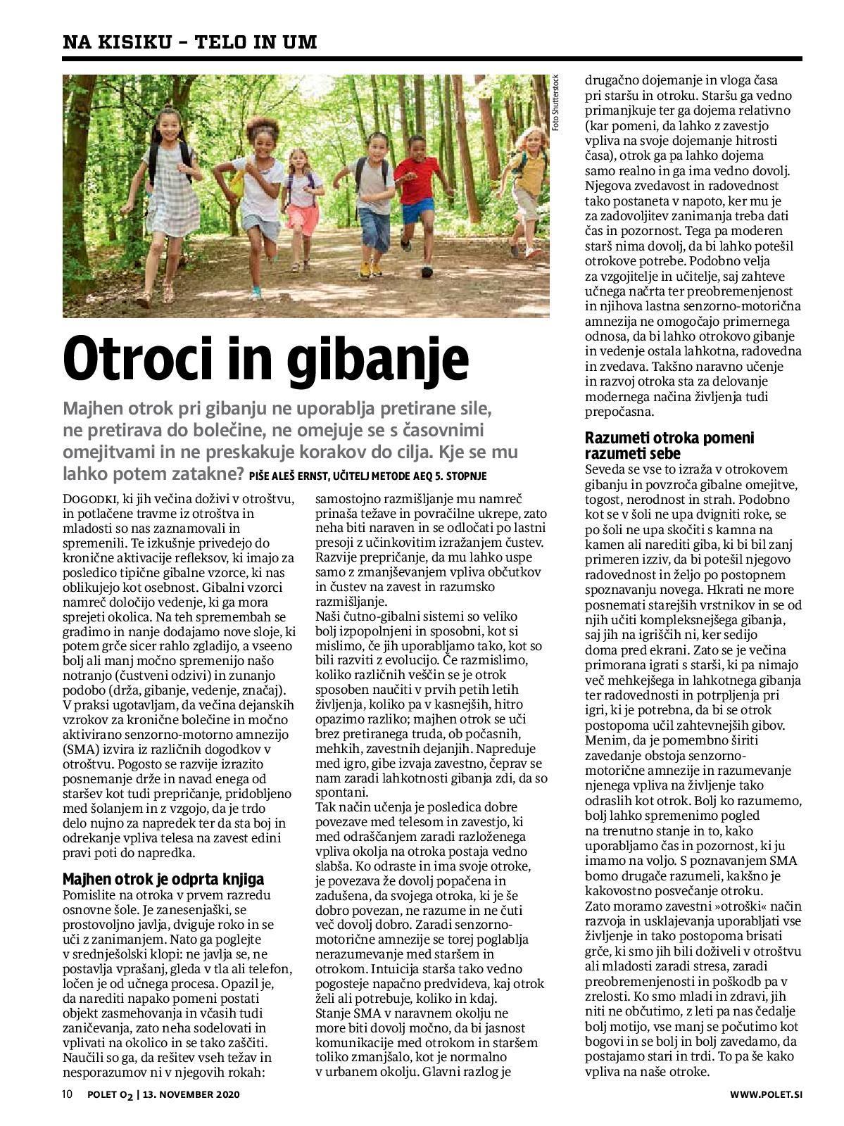 Children and movement